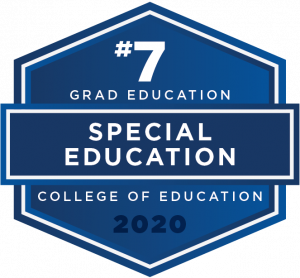 Special Education graduate education ranked #7 in the nation