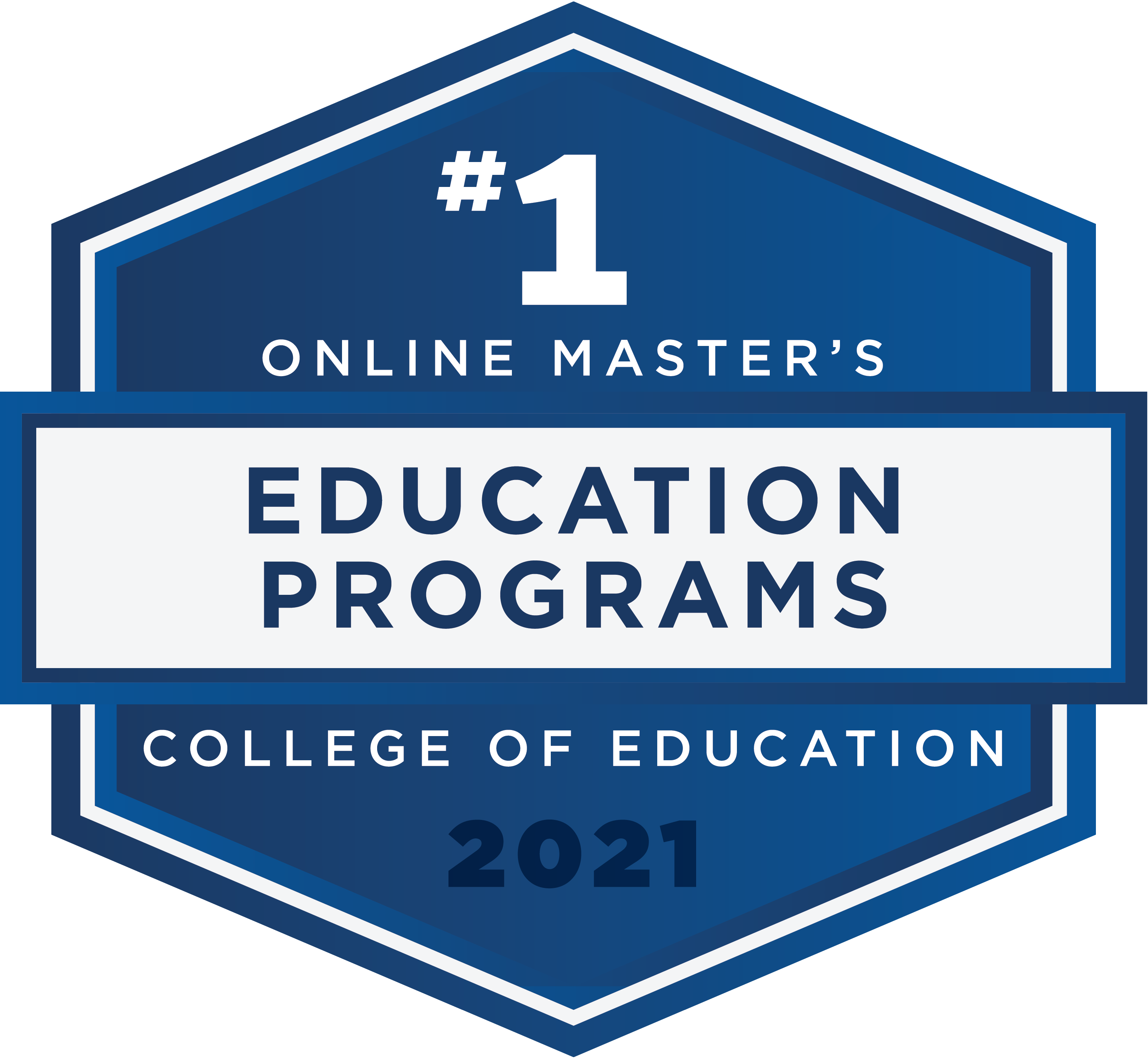 #1 Online Master's - Education Programs - College of Education - 2021