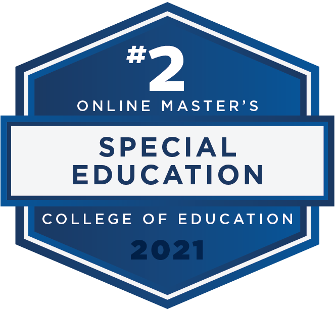 #2 Online Master's - Special Education - College of Education - 2021